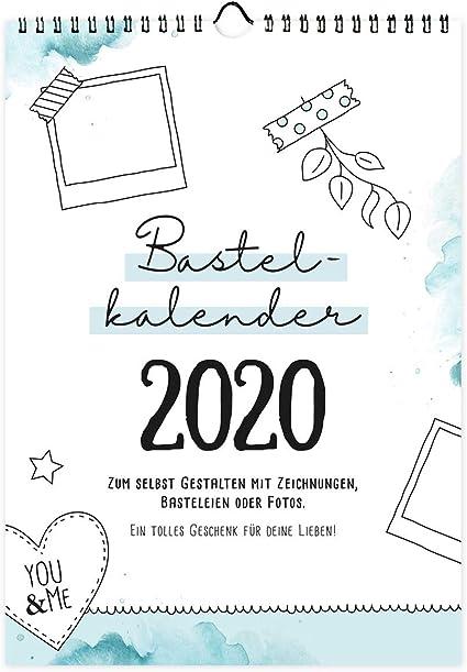 Bastelkalender Din A4 Zum Selbst Gestalten 2020 Wandkalender Zum