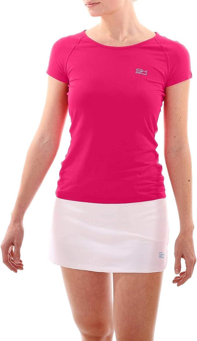 SPORTKIND Sport ni/ña y Mujer Tenis////Sport Camiseta de Fitness en Lila Desde la Talla 110/hasta XL