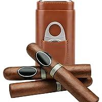 Garosa Estuche De Cuero Portátil para Viaje Cigarros