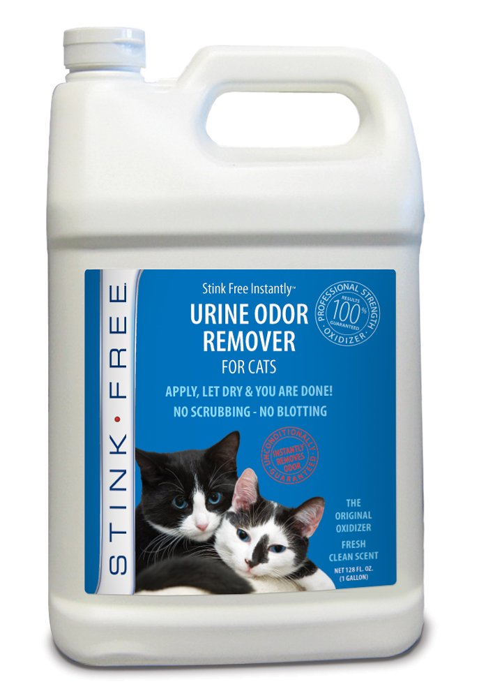 Stink Free Instantly Urine Odor Remover & Eliminator for Cat Urine, Oxidizer Based Urine Cleaner for Carpets, Rugs, Mattress, etc. 128 Oz (1 Gallon) by Stink Free