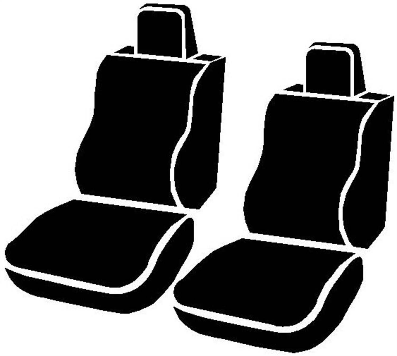 Leatherette Fia SL67-18 GRAY Custom Fit Front Seat Cover Bucket Seats Black w//Gray Center Panel