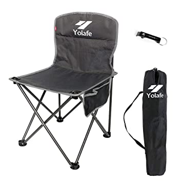 Small Folding Camping Chair Lightweight Seat Portable Stool For Adults Mountaineering Adventure Hiking Fishing Beach Picnic Party Gardening With Carry