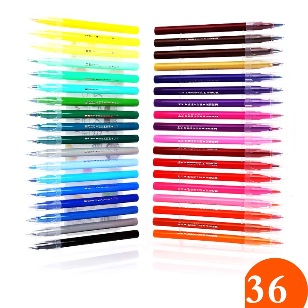 Kaiyu Cepillo Lavable de Pintura Lavable Cepillo Escuela Primaria Acuarela Conjunto de lápices Dibujo para niños Arte Sketch Caligrafía (Size : 2) 6d0b23