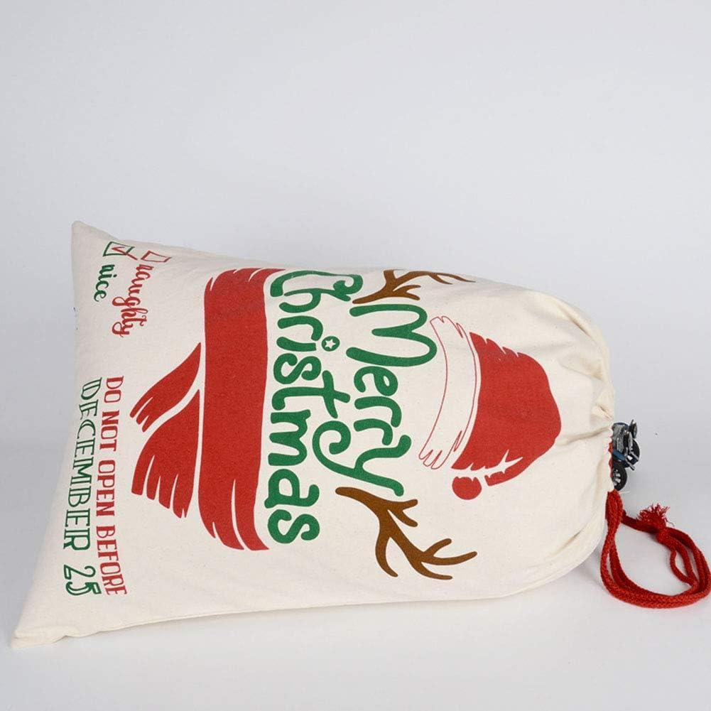 Cadeau de No/ël Sac Coton P/ère No/ël Sac de Cordon Sac de Bonbons Cadeau de No/ël Cadeau Livraison Sacs Emballage Kraft Sacs en Papier