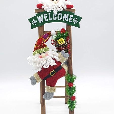 KERVINFENDRIYUN YY4 Decoraciones de Navidad 50cm Santa Claus muñeco de Nieve Escaleras de Madera Decoración de Navidad para Regalos de muñecas de Navidad (Color : Santa Claus): Amazon.es: Hogar