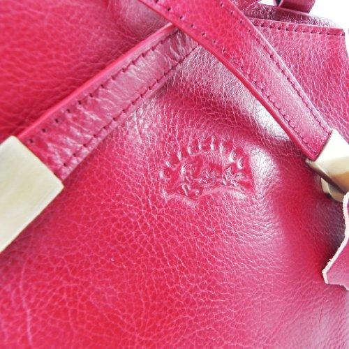 Mochila de cuero 'Vendôme' rojo.
