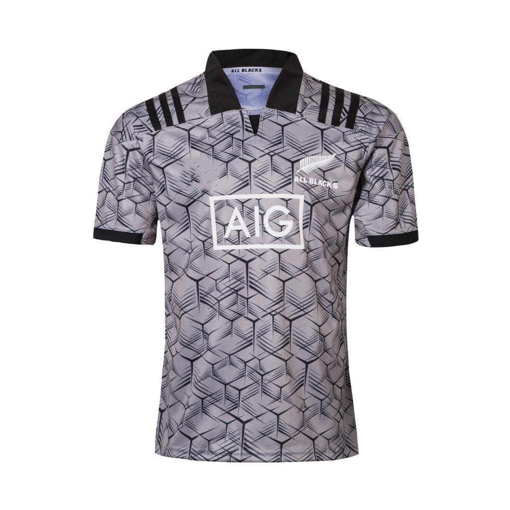 Hombres Camiseta de Rugby Nueva Zelanda All Black Team Traje de ...