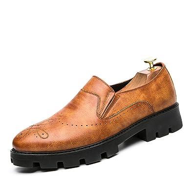 Casual Planas Zapatos Hombre Mocasines Moda Oficina Trabajo Negocios Slip on Barco: Amazon.es: Zapatos y complementos