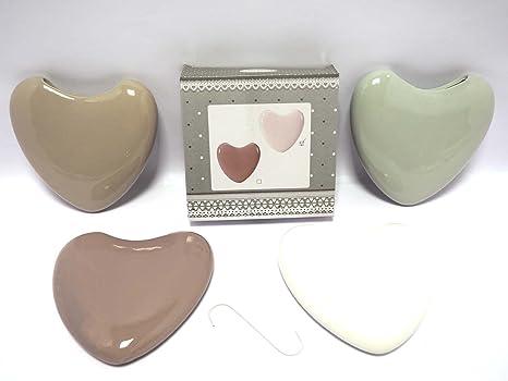 1 humidificador con forma de corazón Radiador vaporizador cerámica humidificadores Estufa Calefactor