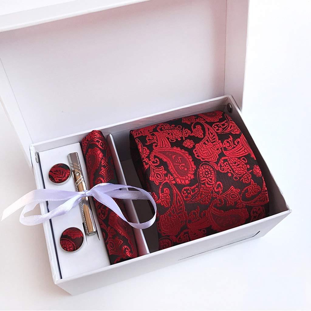 Fashion Jacquard Mens Senior Set TIE The Best Gift Color : H