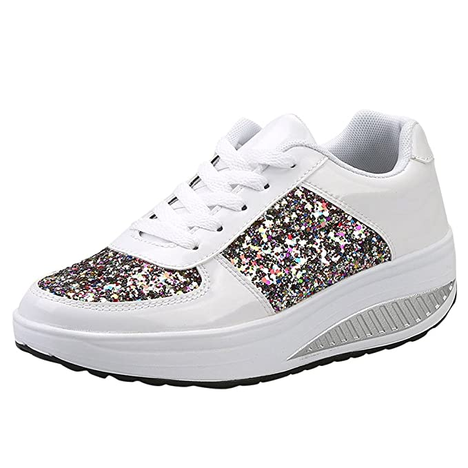 db3f6f90f7 Modaworld scarpe Sportive Sneaker da Donna,Donna Donne Zeppe ...