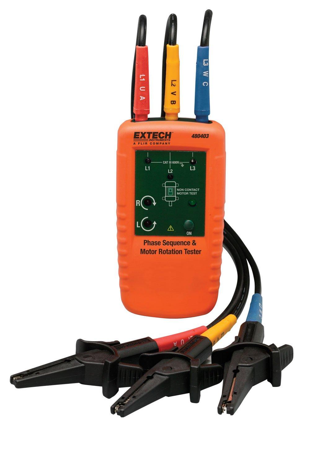 Extech 480403 Probador de rotación de motor y trifásico: Amazon.es: Industria, empresas y ciencia