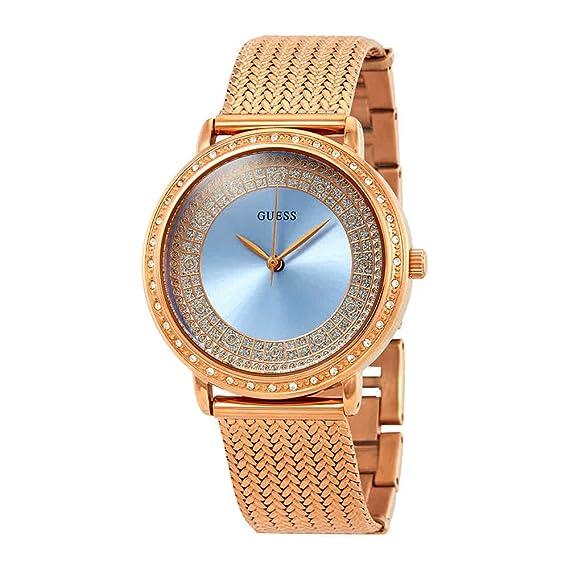 Guess - Reloj Willow w0836l1 Mujer Azul Acero Chapado Oro Rosa: Amazon.es: Relojes