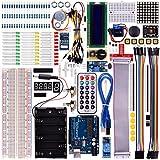 Kuman Starter Learning Kits for Arduino with UNO R3 LCD Servo Motor Sensor AVR Starter Beginners (45 Components) K12