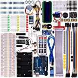 Kuman Basic Starter Learning Kits for arduino Beginners with UNO R3 LCD Servo Motor Sensor AVR (45 components) K12