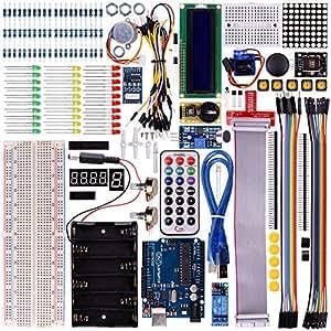 Kuman K12 Starter Learning Kits for arduino with UNO R3 LCD Servo Motor Sensor AVR Starter Beginners (45 components)