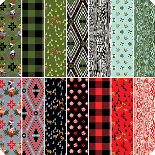 23095TP Holiday Homies-Tula Pink 18''X21'' Fat Quarters-14pcs by Free Spirit