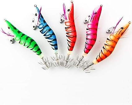 5pcs Crochet de Crevettes Lumineux pour Pêche en Mer