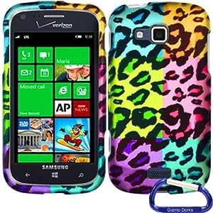 Gizmo Dorks Hard Skin Snap On Case Cover for the Samsung ATIV Odyssey, Colorful Leopard