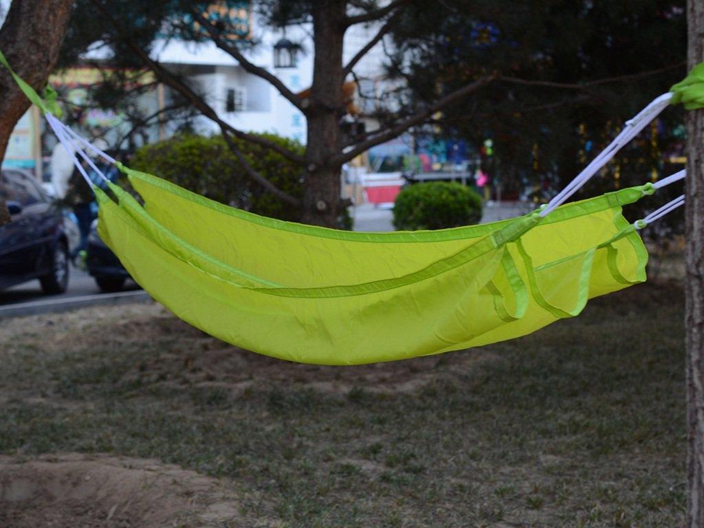 Hängematte Outdoor Freizeit Single Leichtes Atmungsaktives Nylon Leicht zu Tragen Draussen Drinnen Camping 190  80cm -Ultralight Bequeme