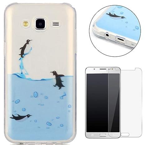 Compatible For Samsung Galaxy J5 2015/J500FN Silicone Gel Funda Silicona Carcasa Suave TPU Protectora Cubiertas Cubierta De La Caja De Silicona ...