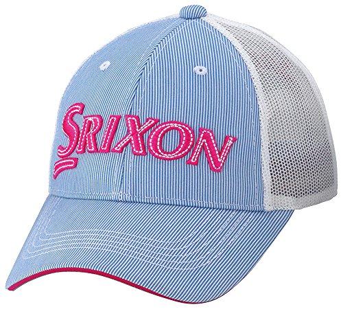 DUNLOP(ダンロップ) SRIXON レディスメッシュキャップ ストライプ柄 レディース SWH8139L ブルーピンク