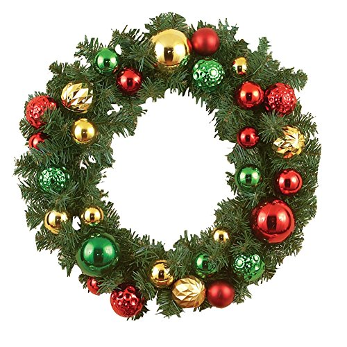 Elegant Holiday Ornament Wreath Multi