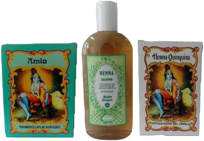 Hair care pack: ayuervedic pelo Tratamiento + Champú Henna anti-Dandruff + pelo polvo endurecedor: Amazon.es: Belleza