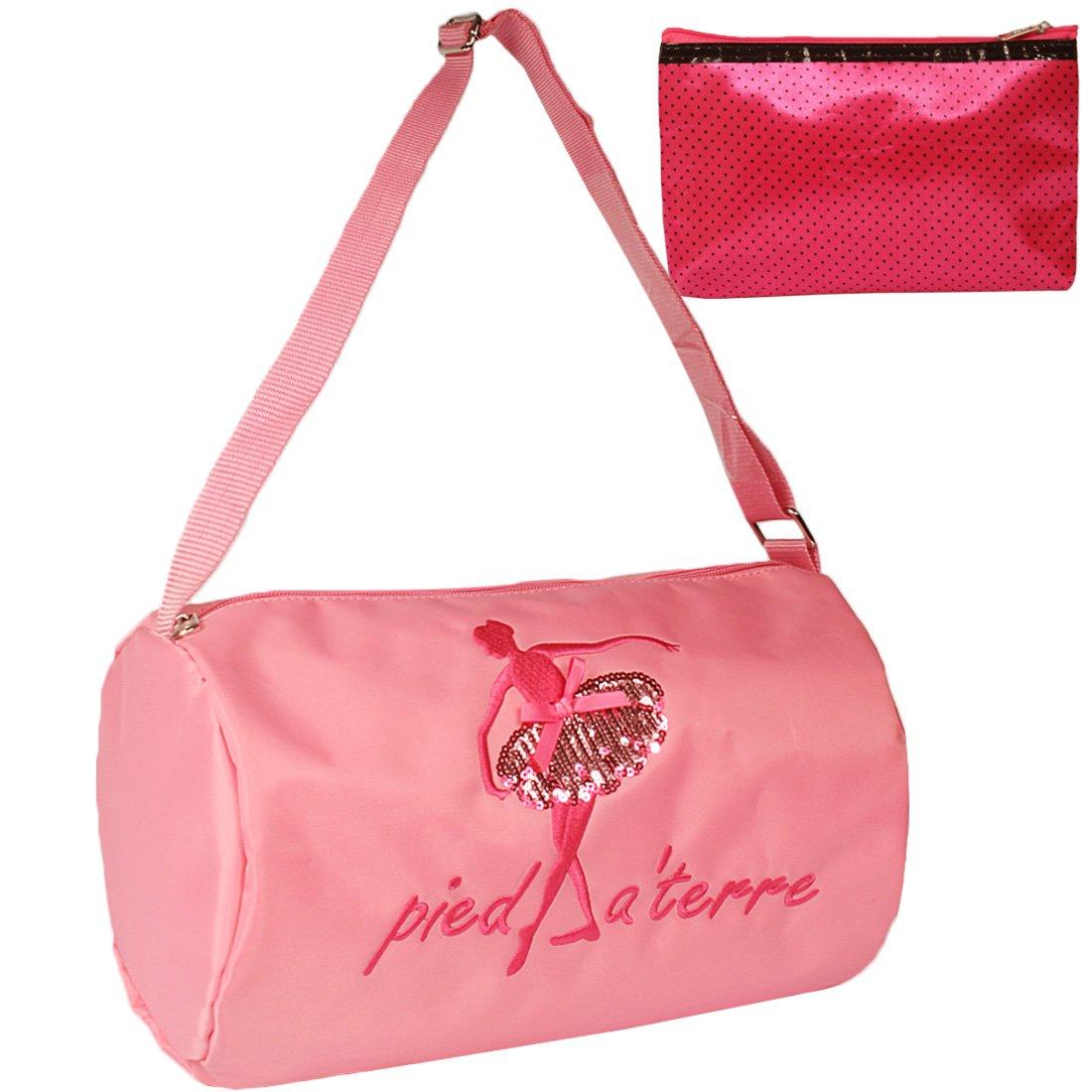kilofly Ballerina Principessa Danza Classica Borsa a Tracolla + Piccolo Sacchetto cosmetico Set AWP411