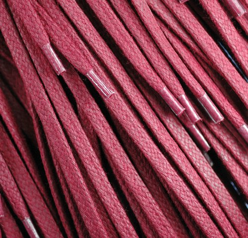 red shoe laces waxed flat - 9