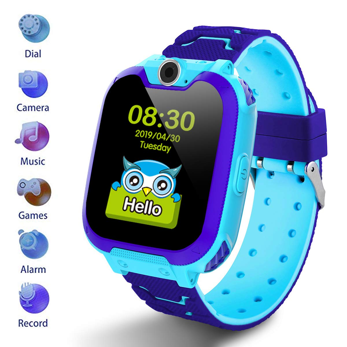 HuaWise Kids Smartwatch [SD Card Included], 1.54 inch Colorful Touch Screen Smartwatch for Children with Quick Dial, Camera and Music Player,Calculator and Alarm for Boys and Girls(NOT Support AT&T)
