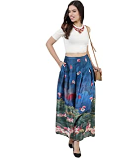 bc70967f286c Ritu Kumar Label Synthetic a-line Skirt (SKRPLX ...