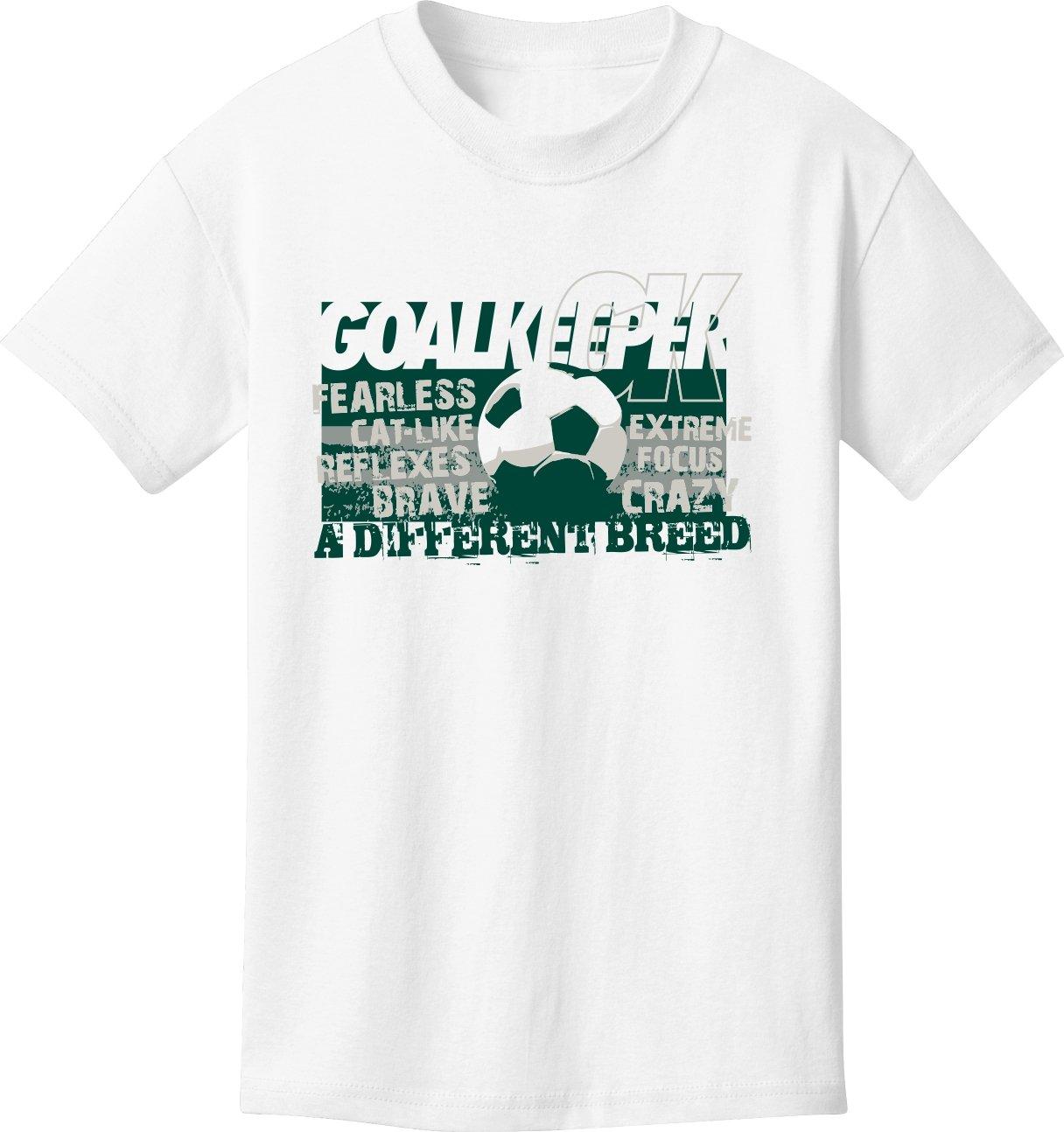 Soccer Tシャツ: Defender – Goalkeeper – 異なるBreed Soccer B076M591DVホワイト Youth Medium