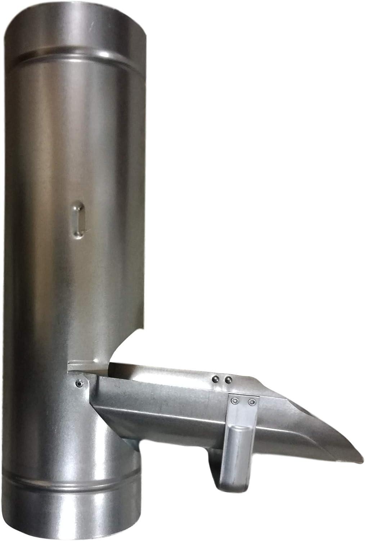 Acero galvanizado para tuber/ía bajante Various Desviador de agua de lluvia de 100 mm Metal Canaletas