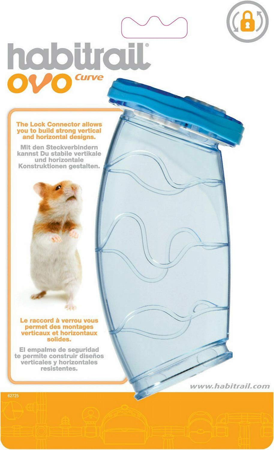 Habitrail OVO Curve Hamster Habitat Home, 12 Pack by Habitrail