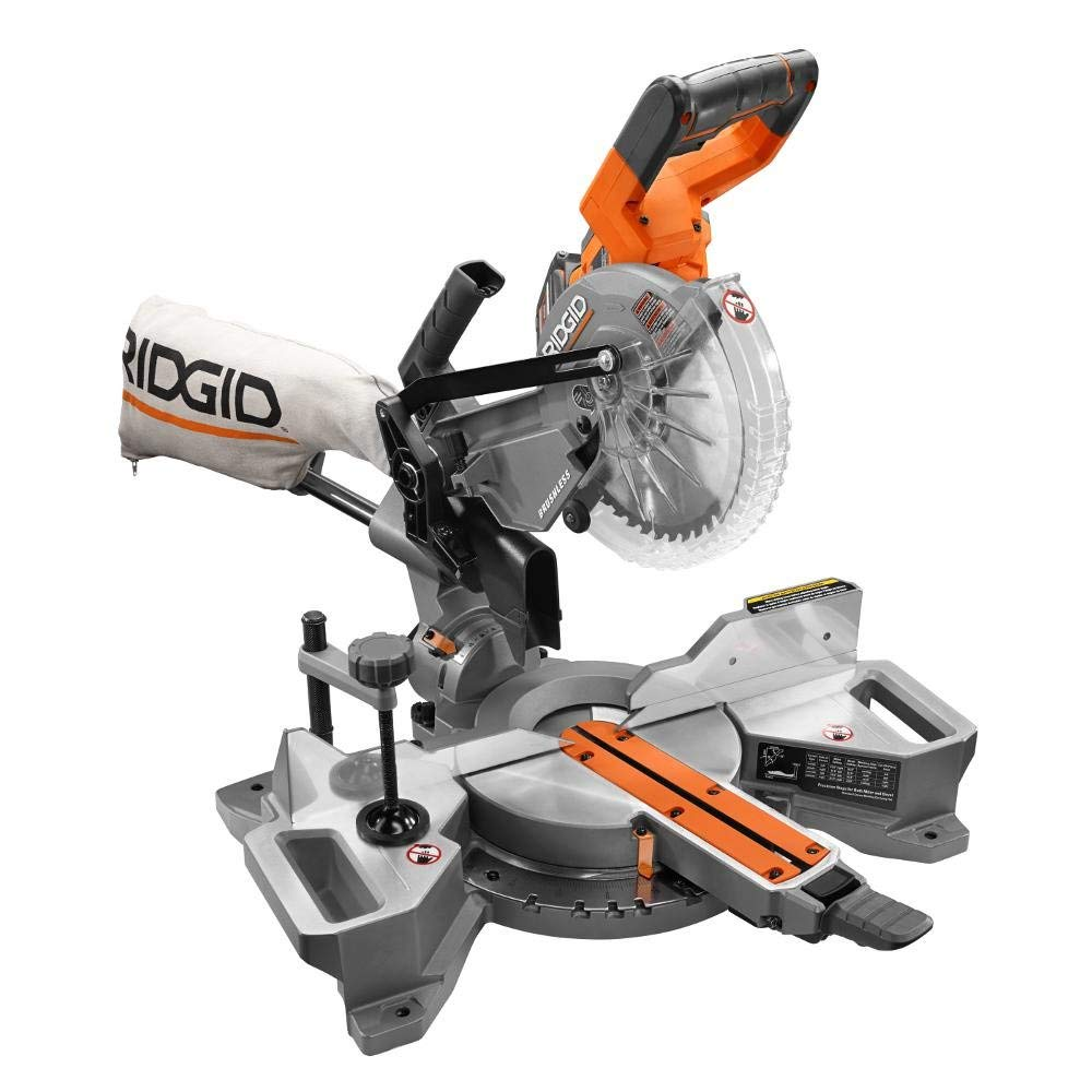 4. Ridgid R48607K 18-Volt Sliding Miter Saw Kit