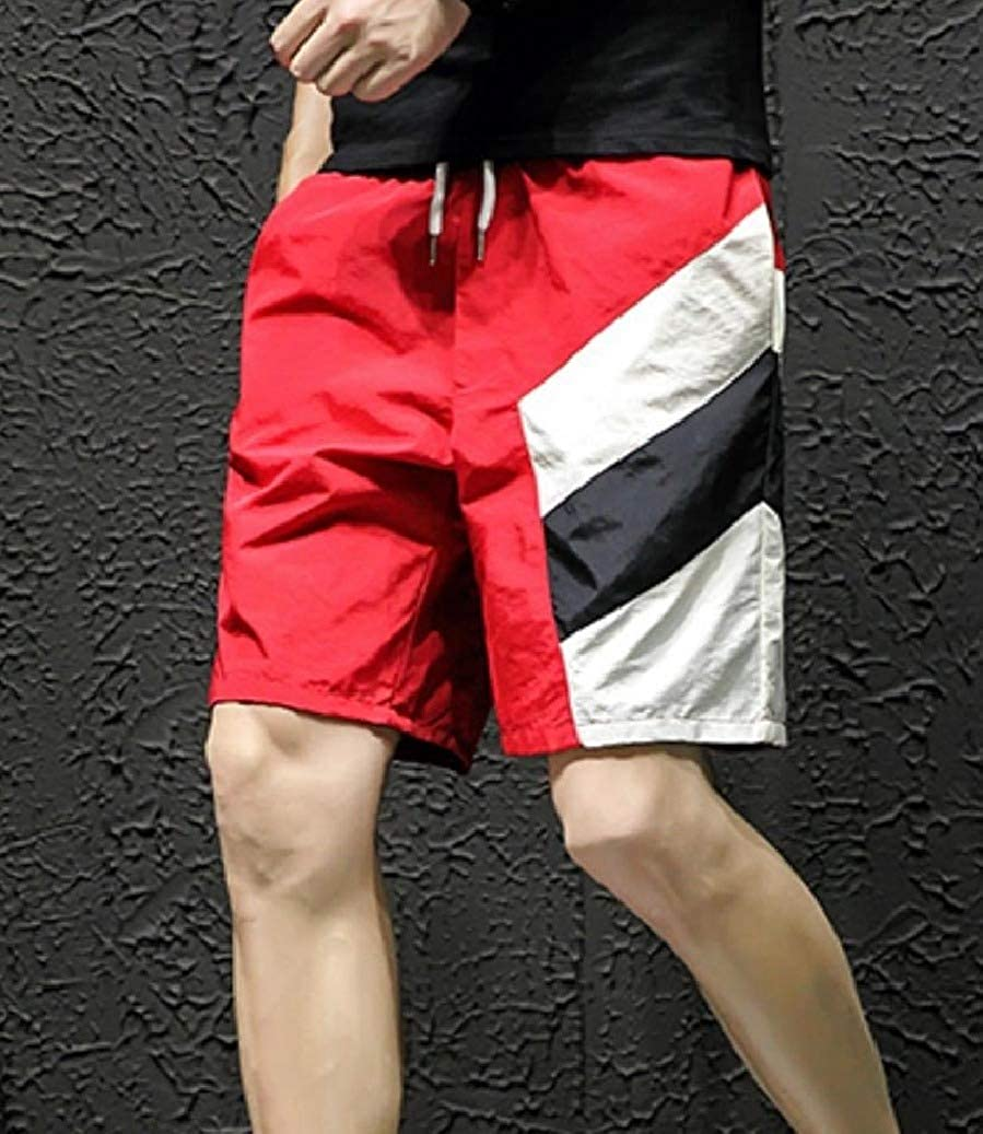 Coolred-Men Juniors Loose-Fit Hit Color Casual Straight Plus-Size Half Pants