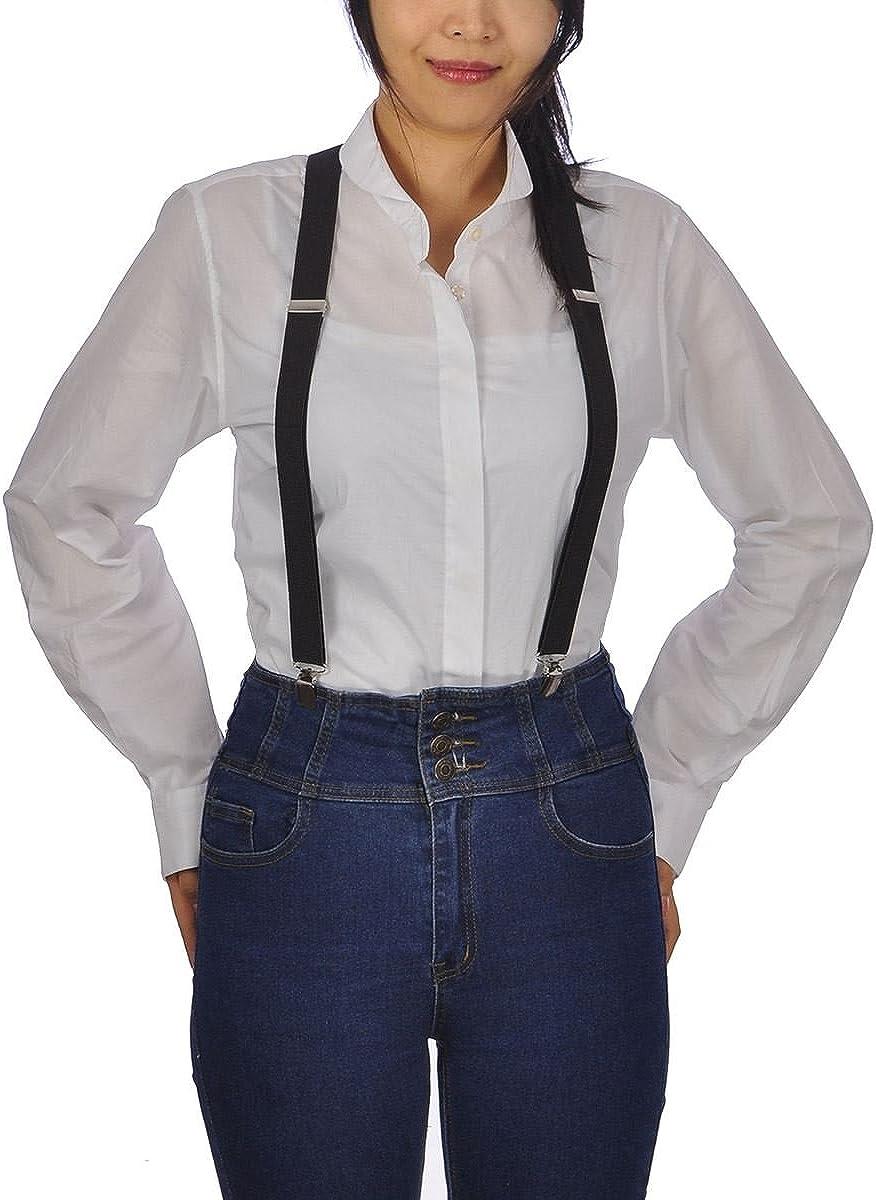Tirantes ajustables, tirantes delgados, Unisex, para Hombres y mujeres, para Pantalones, elegantes, con Clips negro negro Talla única: Amazon.es: Ropa y accesorios