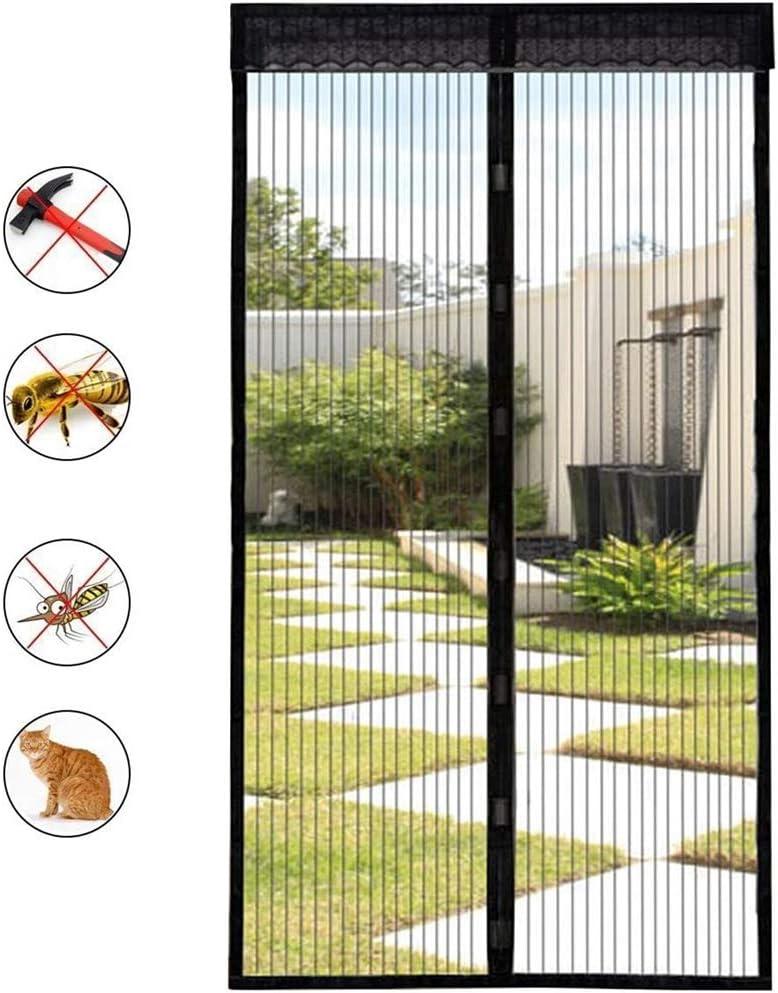 All-Purpose Mosquitera Magnética Puerta Mosquitera Puerta Insectos Fuera Mosquitera Fácil De Instalar Sin Perforar Apagado Automático para Balcón Corredizo Living Habitación Infantil