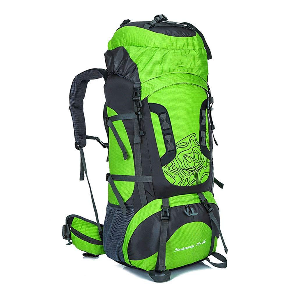 Große 75 + 5L Wanderrucksack Rucksack Leichte Wasserdichte tragbare und atmungsaktive Abdeckung Laptopfach Wandern Reiserucksack Wandern Reisen Camping für Männer und Frauen