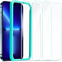ESR Tempered-Glass Screen Protector Compatible with iPhone 13 Pro Max, with Easy Installation Frame, Ultra Tough, Clear…