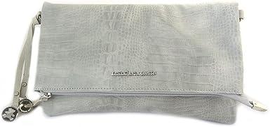 Amazon Com Designer Bag Lulu Castagnette Pearl Gray Crocodile 28 5x17x2 5 Cm 11 22 X6 69 X0 98 Clothing
