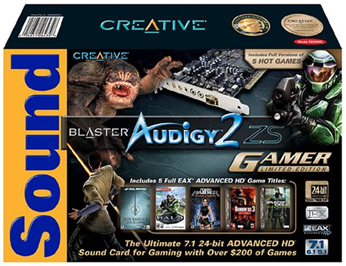 Creative Labs Sound Blaster Audigy 2 ZS Gamer PCI Soundcard (70SB035000013) by Creative Labs