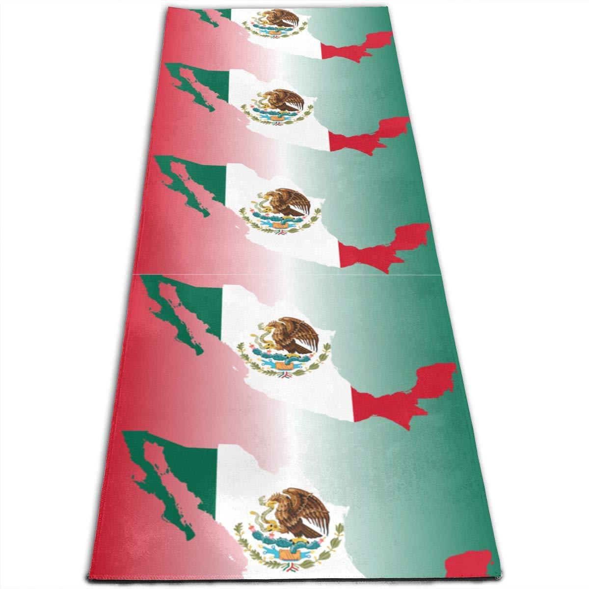 Amazon.com: Mexico Flag Map Pattern Printed Yoga Mat Prana ...