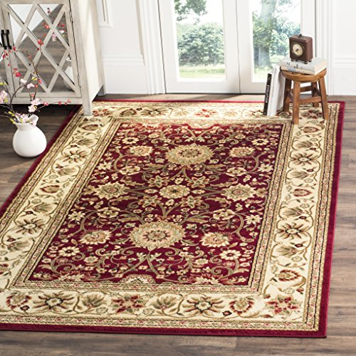 Safavieh Lyndhurst Collection LNH212F Traditional Oriental Red and Ivory Area Rug (6' x 9') ()