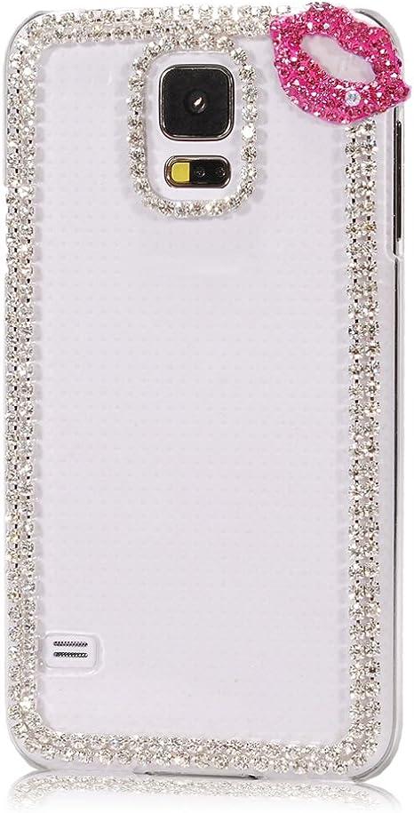 YOKIRIN PC Plástico Funda Case Cover Cubre Hard Case Cover para Samsung Galaxy S5 SV I9600 Estuche Funda Carcasa Cubierta Caso con bling Rhinestone: Amazon.es: Bebé
