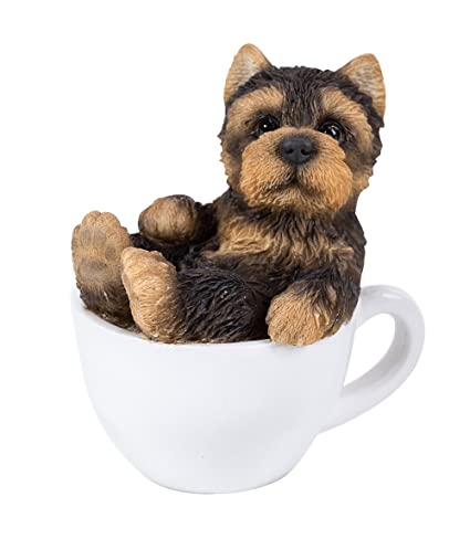 Amazoncom Pacific Giftware Yorkie Puppy Adorable Mini Teacup Pet