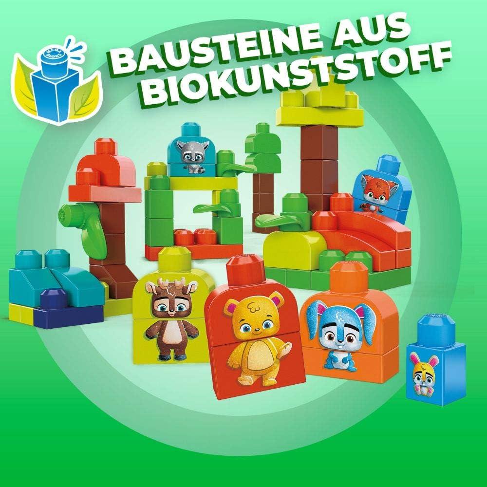 Mega Bloks GMB63 Waldfreunde Bausteine aus pflanzlichen Rohstoffen 70 St/ück
