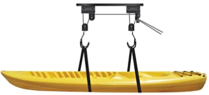 Genial KAYAK LIFT SYSTEM CANOE GARAGE CEILING STORAGE HANGING HOIST LIFTING