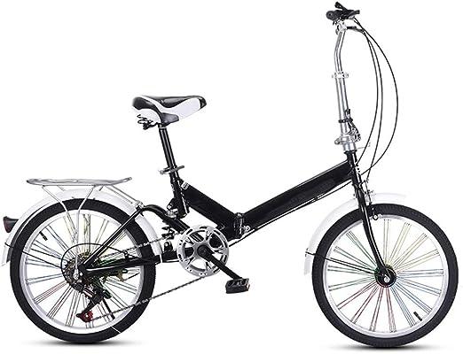 TXTC Bicicleta Plegable For Adultos Mujeres, Amortiguador De ...